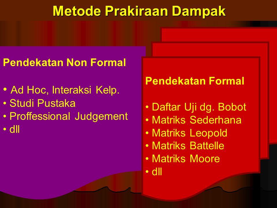 Metode Prakiraan Dampak Pendekatan Non Formal Ad Hoc, Interaksi Kelp.