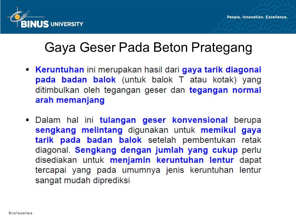 Bina Nusantara Gaya Geser Pada Beton Prategang