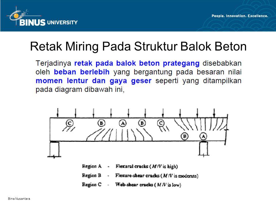 Bina Nusantara Retak Miring Pada Struktur Balok Beton
