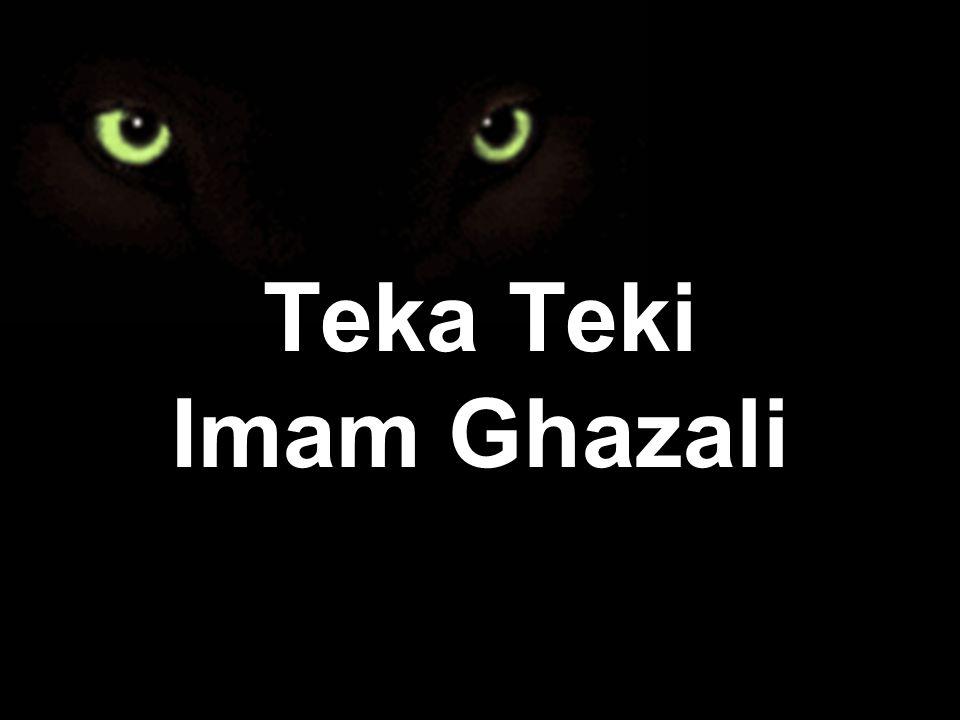 Teka Teki Imam Ghazali