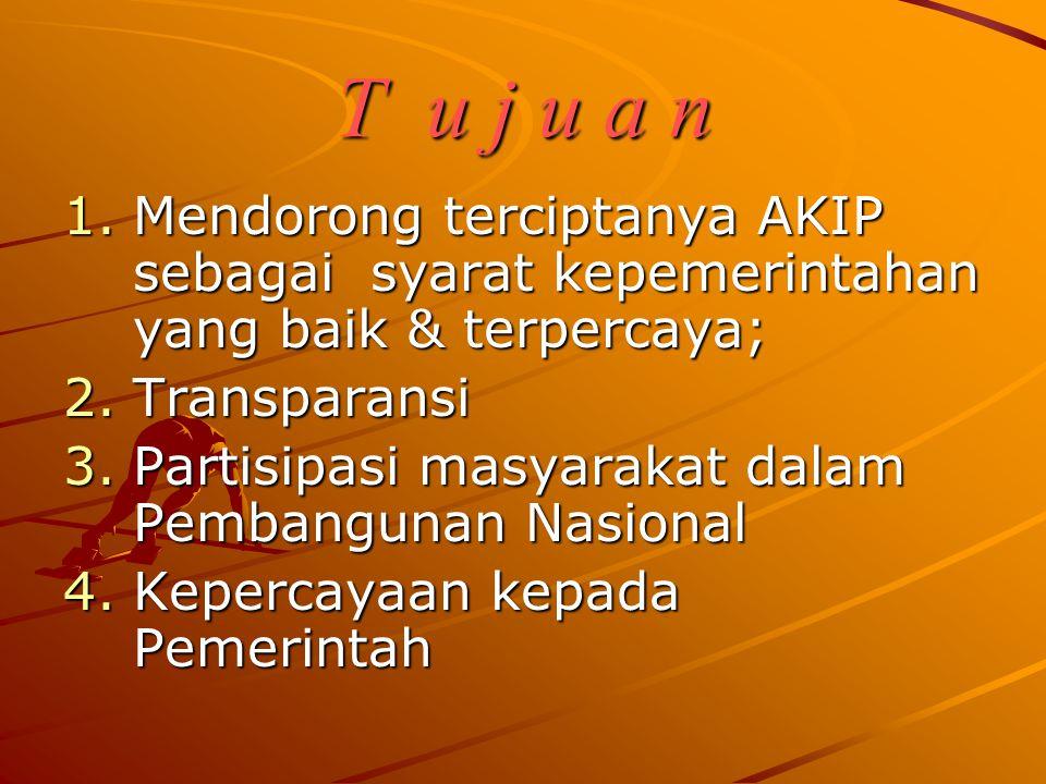 Dasar hukum sakip/lakip 1. Ketetapan MPR No.XI tahun 1998 2. UU No. 28 tahun 1999 3. Keppres No. 7 Tahun 1999 4. SK LAN No. 589 Tahun 1999 5. SK LAN N