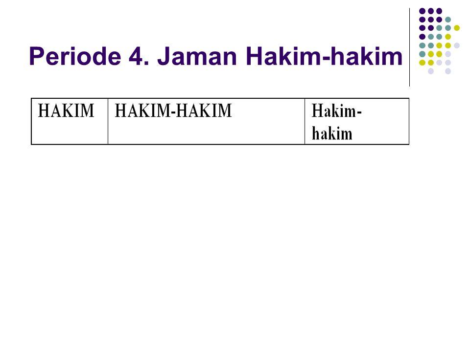 Periode 4. Jaman Hakim-hakim