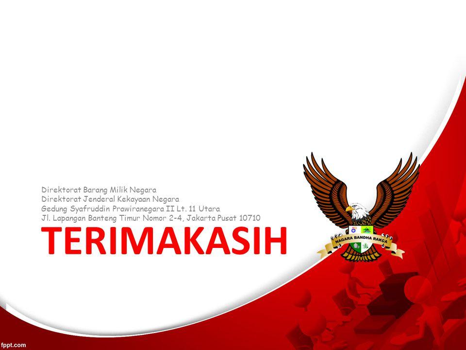 TERIMAKASIH Direktorat Barang Milik Negara Direktorat Jenderal Kekayaan Negara Gedung Syafruddin Prawiranegara II Lt.