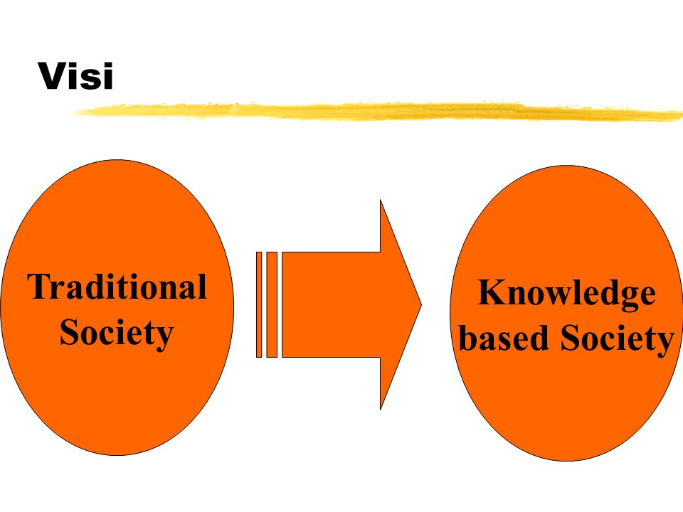Visi Traditional Society Knowledge based Society