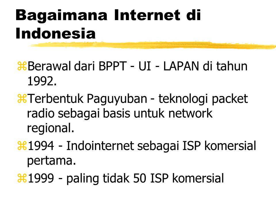 Bagaimana Internet di Indonesia zBerawal dari BPPT - UI - LAPAN di tahun 1992.