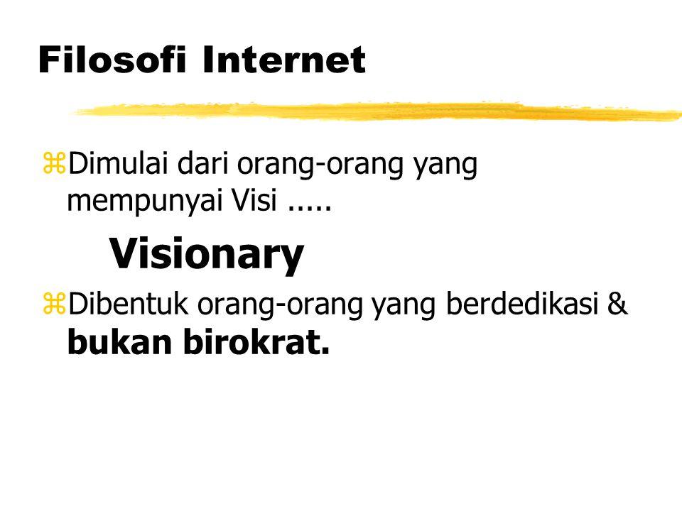 Filosofi Internet zDimulai dari orang-orang yang mempunyai Visi.....