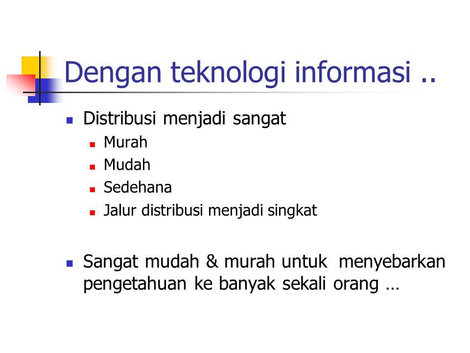 Dengan teknologi informasi..