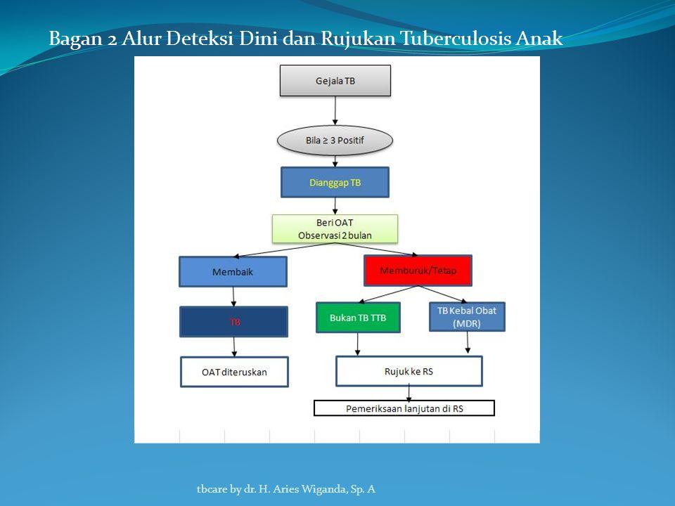 D. Tuberculosis Anak Diagnosis tuberculosis pada anak didasarkan atas gambaran klinis, uji tuberkulin dan gambaran radiologis Tanda-tandanya yaitu : 