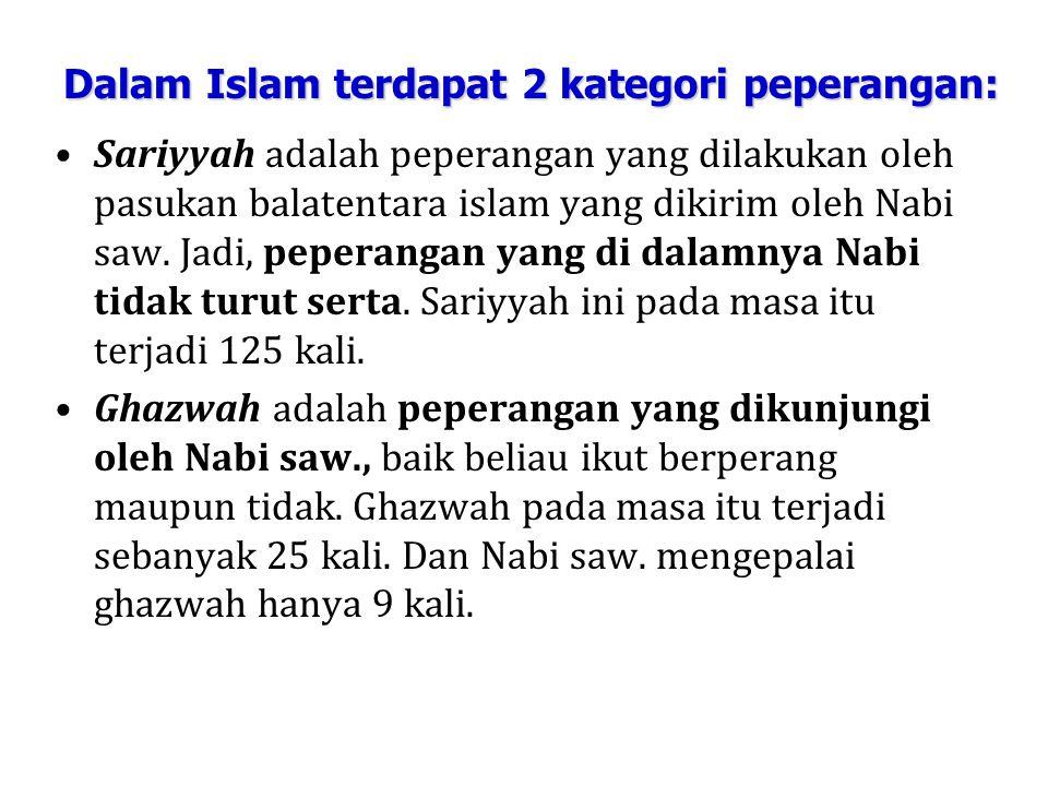 Sariyyah adalah peperangan yang dilakukan oleh pasukan balatentara islam yang dikirim oleh Nabi saw.