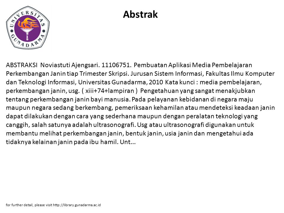 Abstrak ABSTRAKSI Noviastuti Ajengsari.11106751.