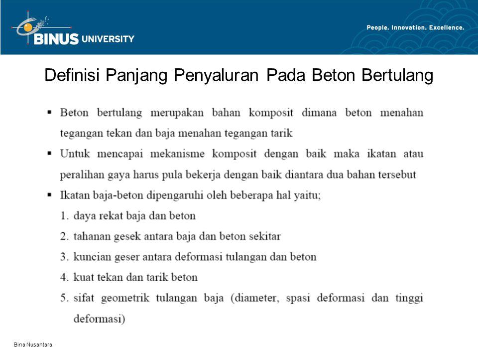 Bina Nusantara Penulangan Dalam Lokasi Momen Positif dan Negatif Pada Balok Menerus, Kantilever