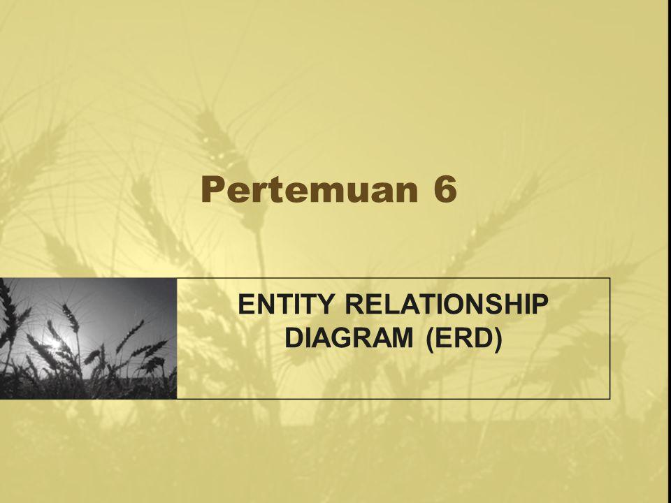 Entity Relationship Diagram (ERD) ERD adalah suatu diagram yang menggambarkan hubungan antar entity di dalam database.
