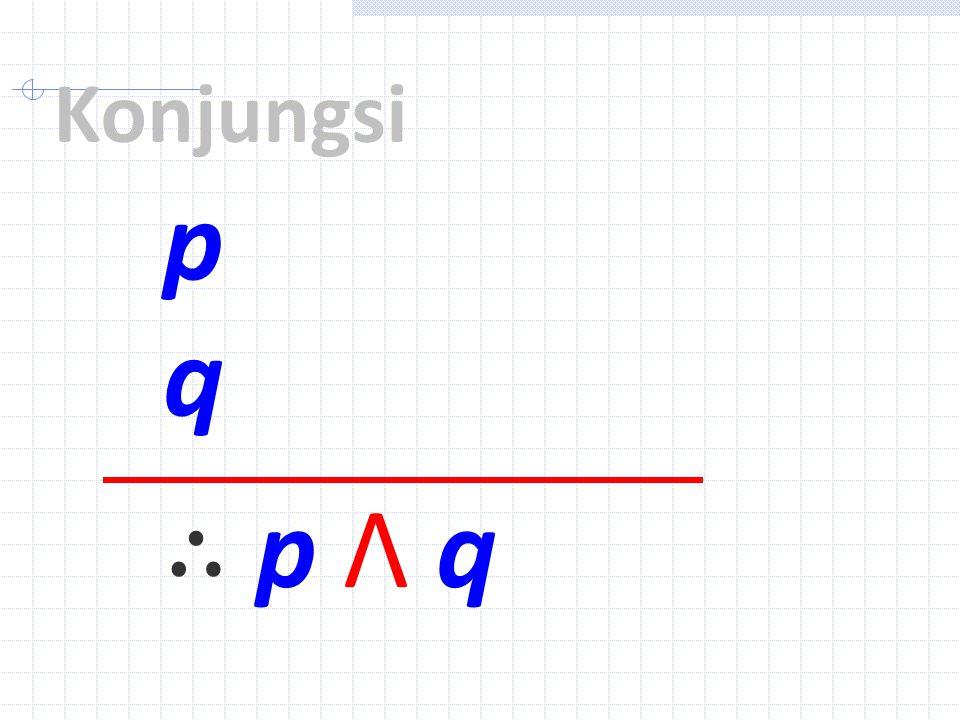 p q ∴ p Λ q Konjungsi