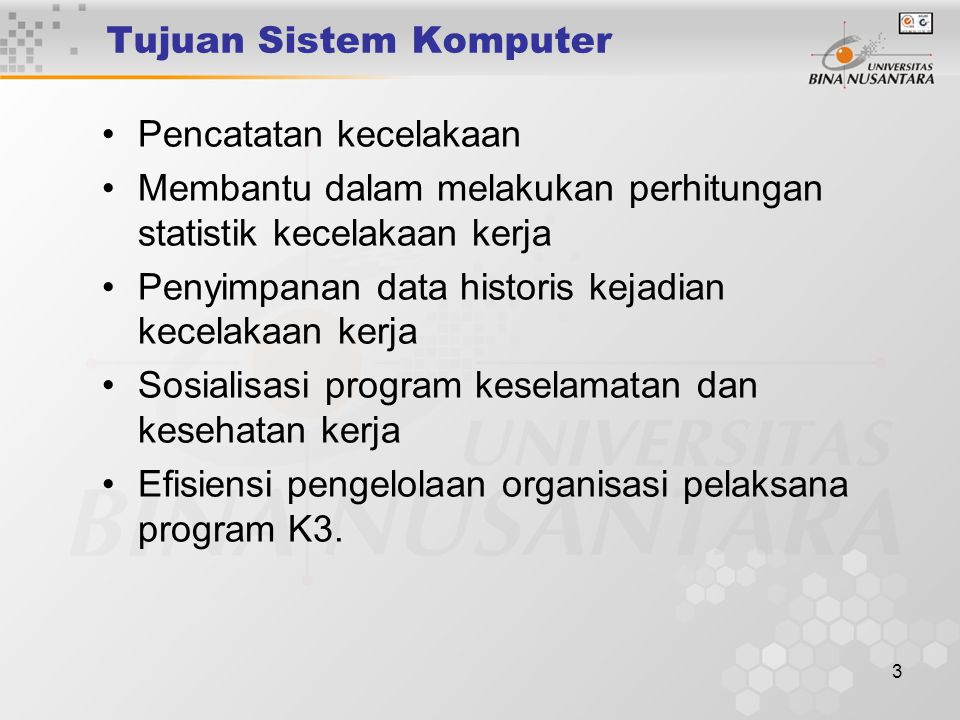 4 COMPUTERIZED SAFETY DATA SYSTEM (CSDS) Sistem komputerisasi penyimpanan data yang diperlukan untuk manajemen K3 antara lain : – Output Report – User's Manual – Investigation Form