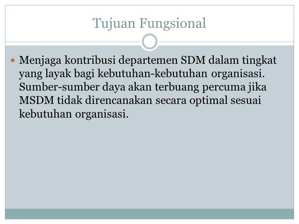 Kesalingterhubungan Fungsi-Fungsi MSDM Seluruh bidang fungsional MSDM saling terhubung erat.