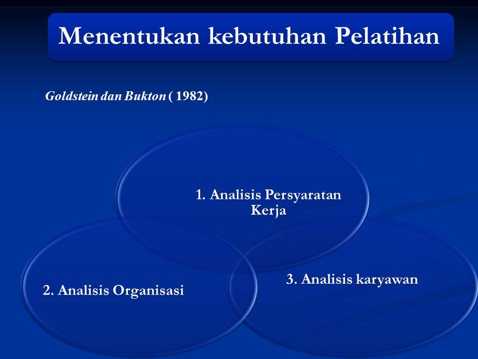 Langkah-langkah Pelaksanaan Pelatihan 1.