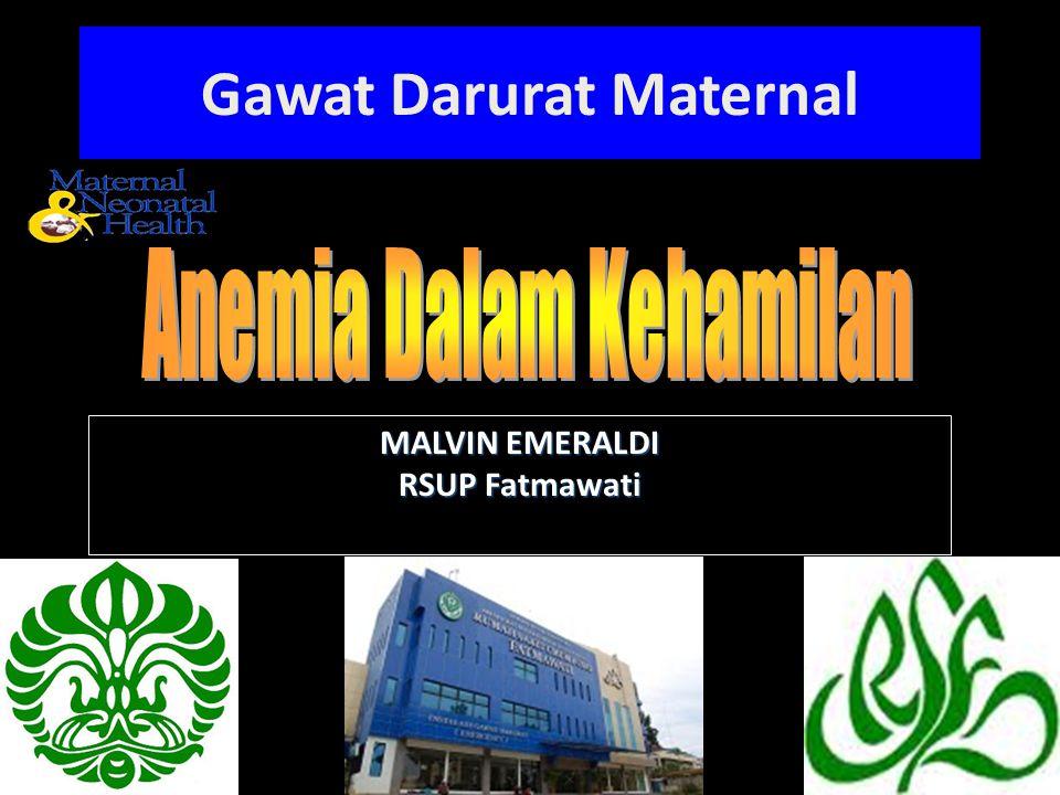 MALVIN EMERALDI RSUP Fatmawati Gawat Darurat Maternal