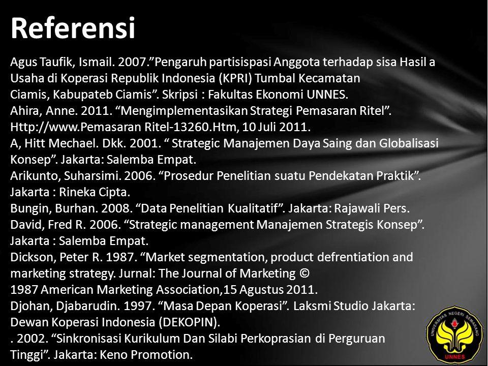 Referensi Agus Taufik, Ismail.