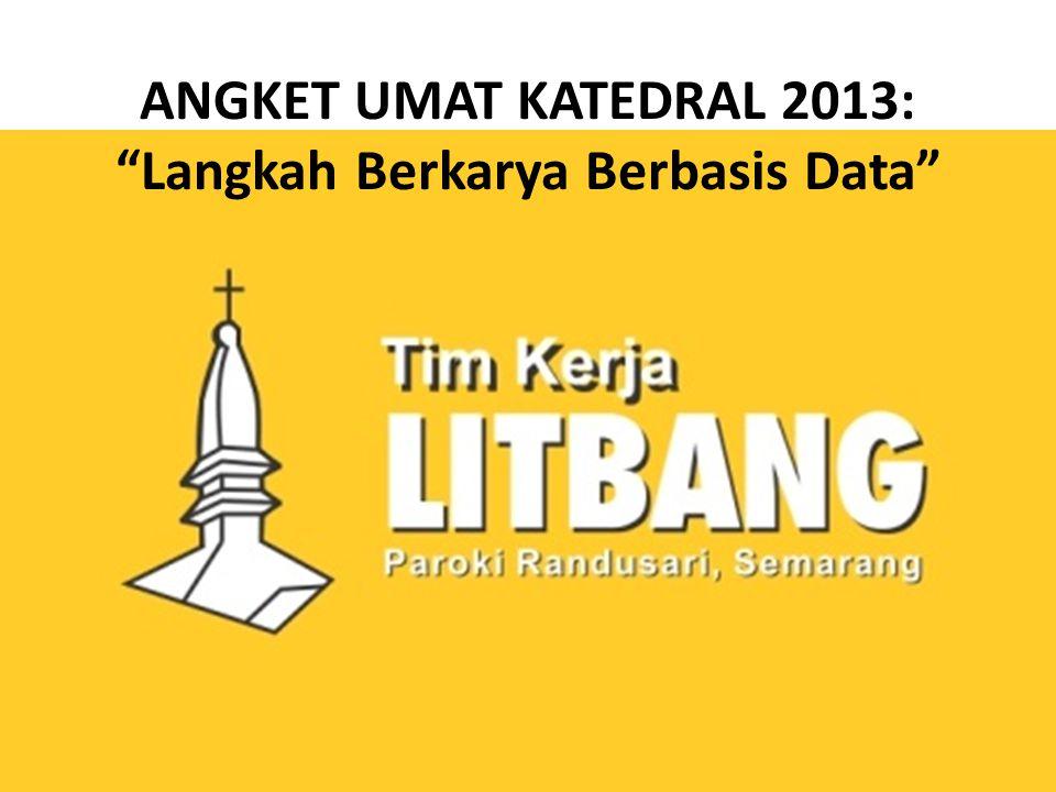 ANGKET UMAT KATEDRAL 2013: Langkah Berkarya Berbasis Data