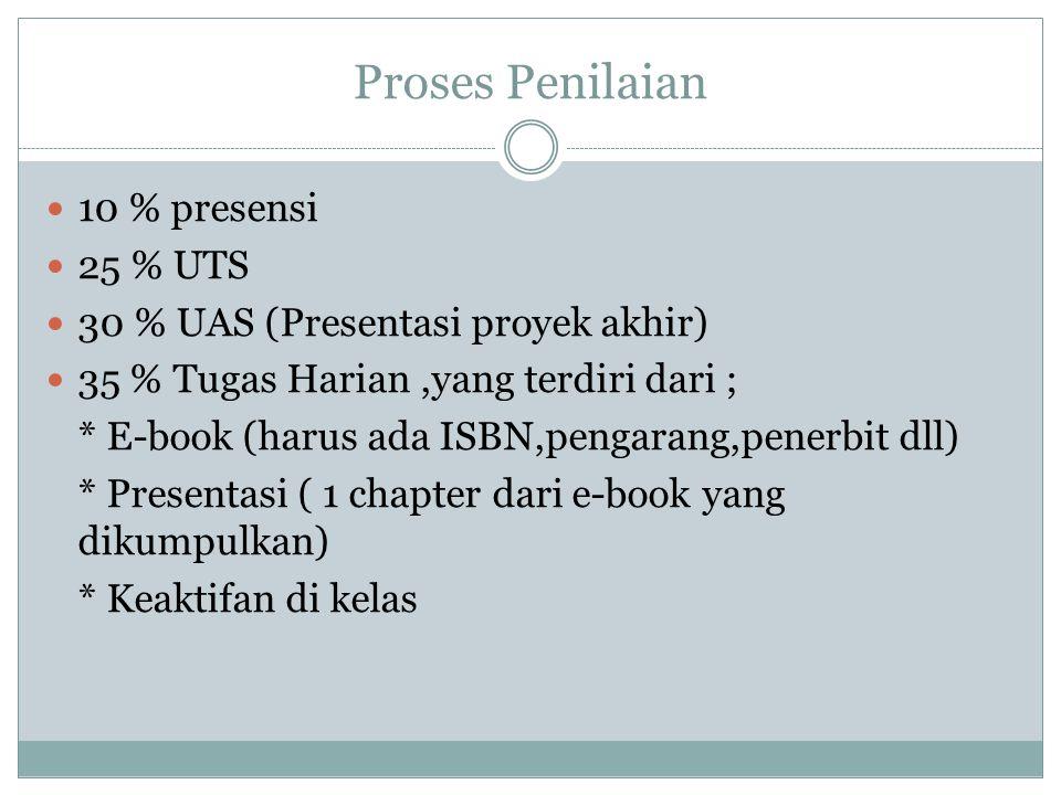 Penjelasan e-book E-book dijadikan pegangan dan buku wajib bagi mahasiswa E-business.