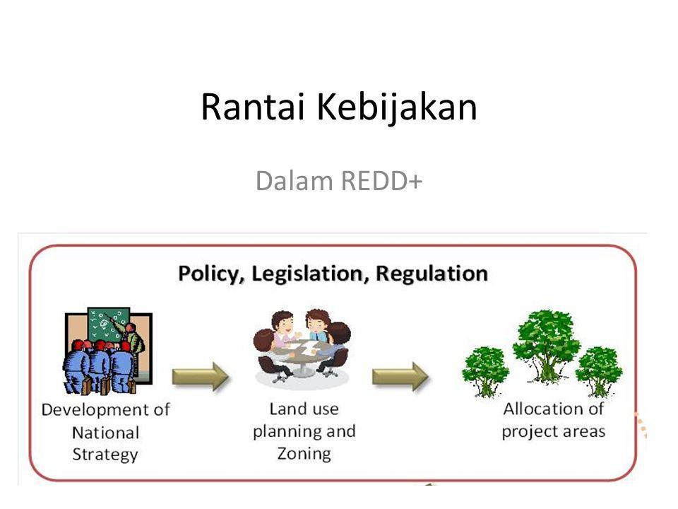 Persiapan rencana penggunaan lahan awal Pra kondisi kawasan yang bisa diajukan untuk REDD, contohnya moratorium perizinan.