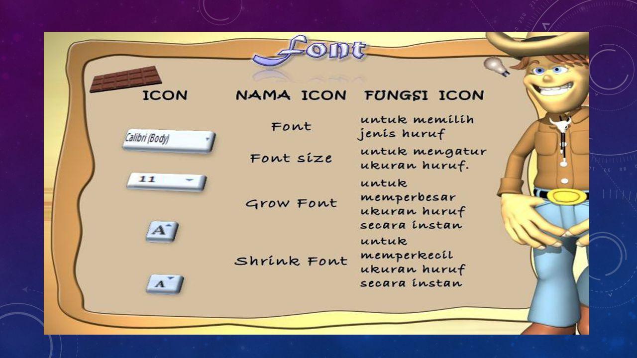 Group Styles G roup Styles terdiri dari dua menu.