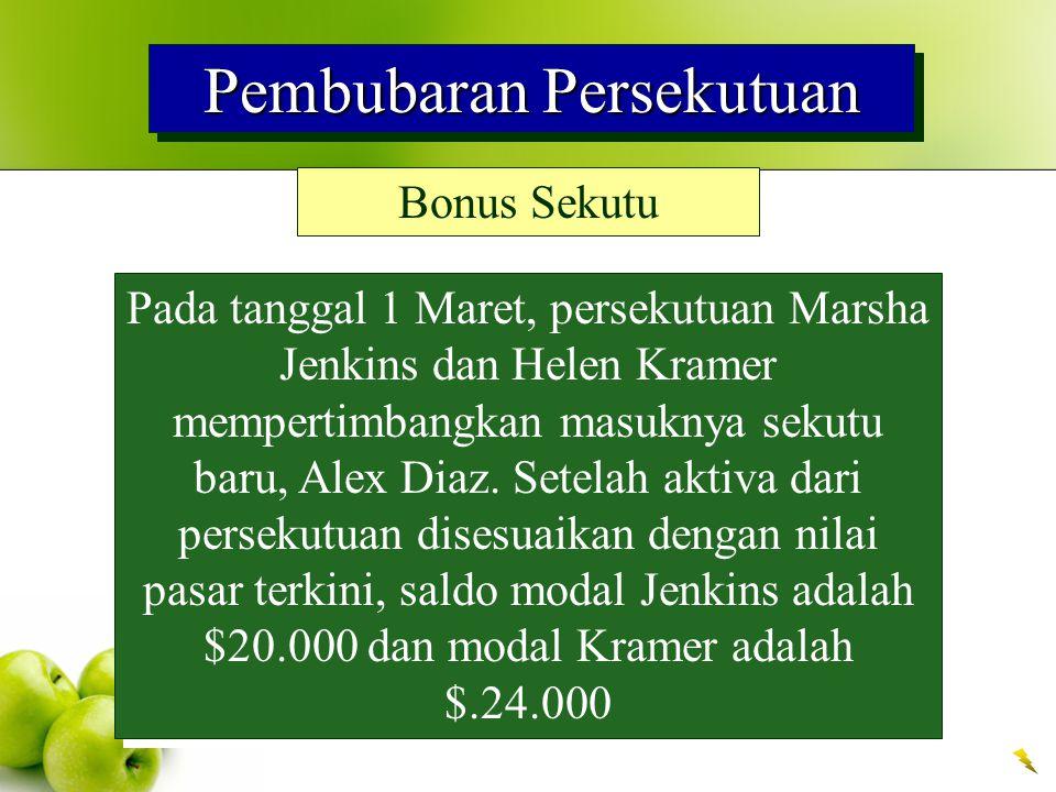 Pembubaran Persekutuan Bonus Sekutu Pada tanggal 1 Maret, persekutuan Marsha Jenkins dan Helen Kramer mempertimbangkan masuknya sekutu baru, Alex Diaz