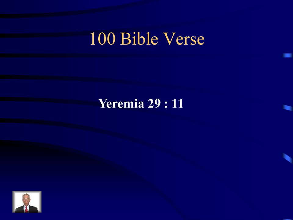 100 Bible Verse Yeremia 29 : 11