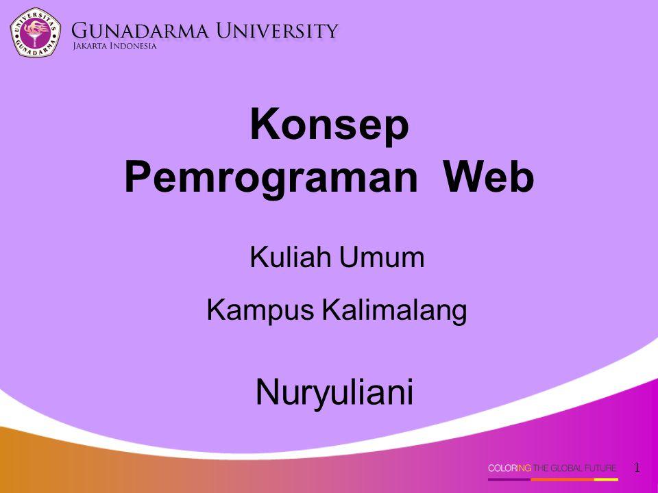 1 Nuryuliani Konsep Pemrograman Web Kuliah Umum Kampus Kalimalang