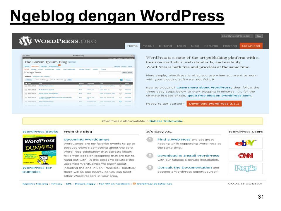 31 Ngeblog dengan WordPress