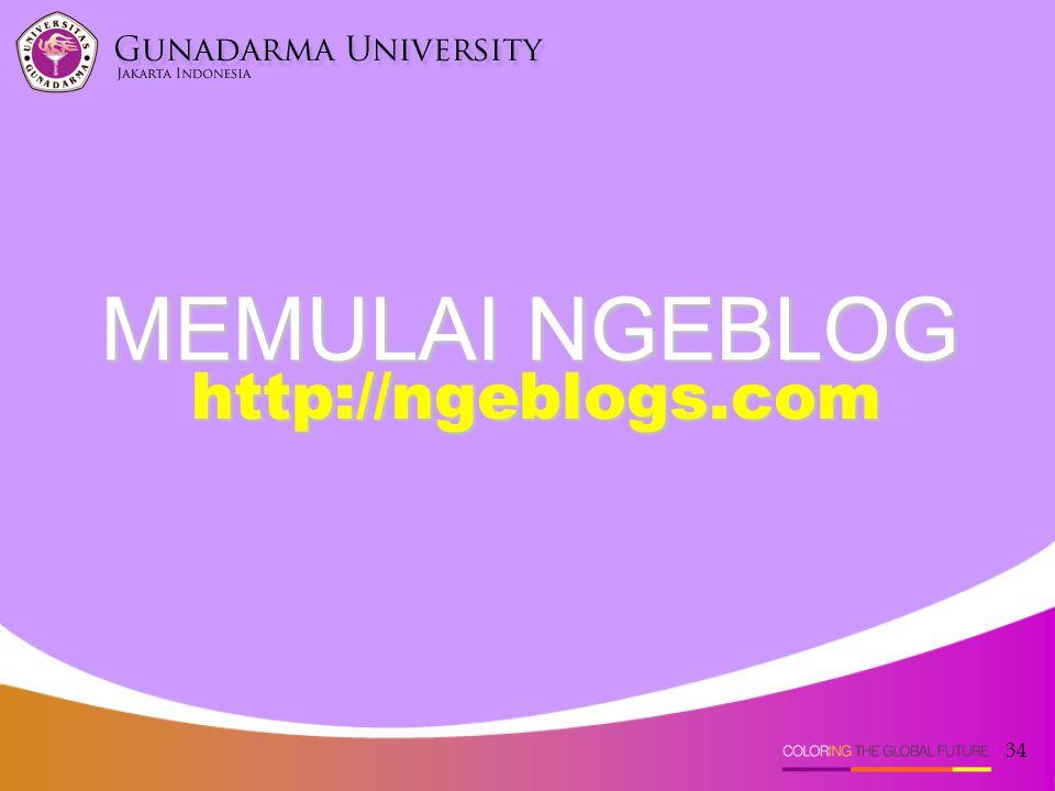 34 MEMULAI NGEBLOG http://ngeblogs.com