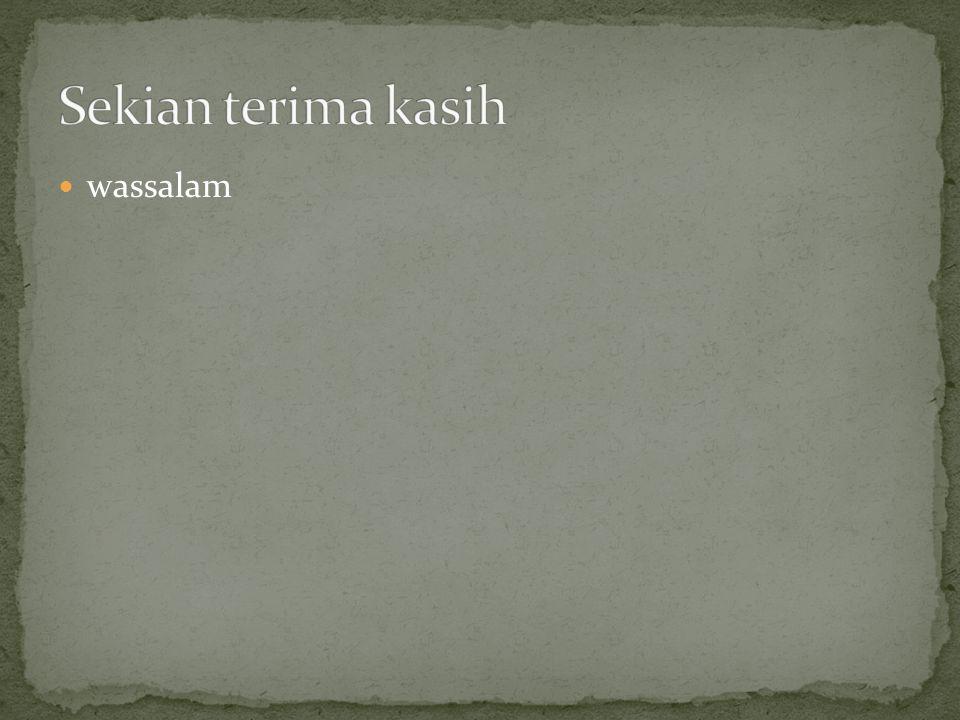 wassalam