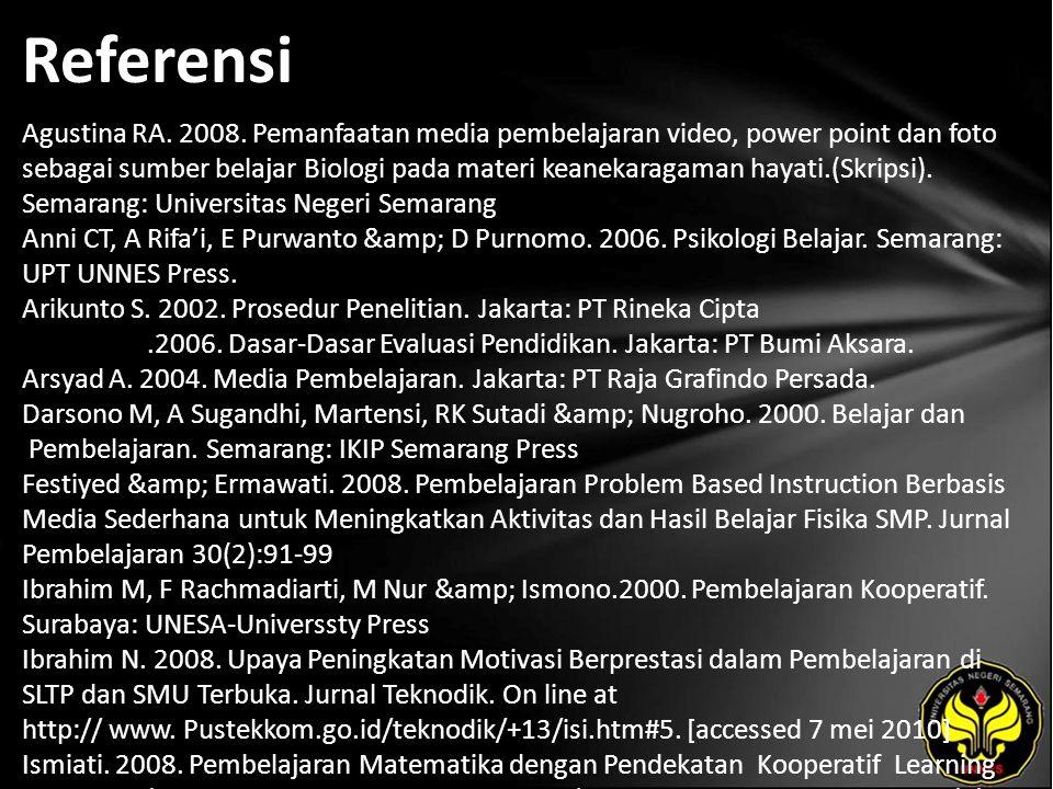 Referensi Agustina RA. 2008.