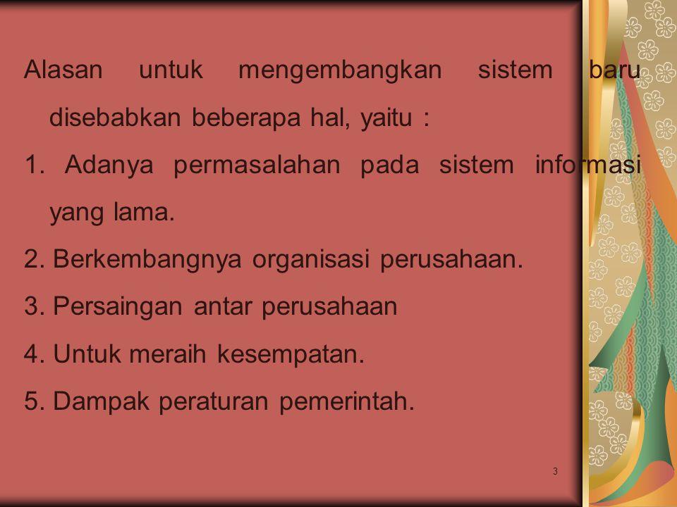 4 Pengadaan sistem informasi Ada empat cara untuk pengadaan sistem informasi yaitu: 1.