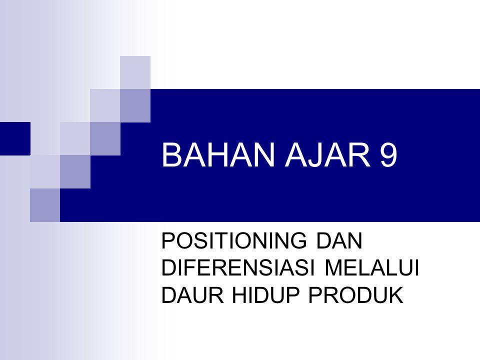 BAHAN AJAR 9 POSITIONING DAN DIFERENSIASI MELALUI DAUR HIDUP PRODUK