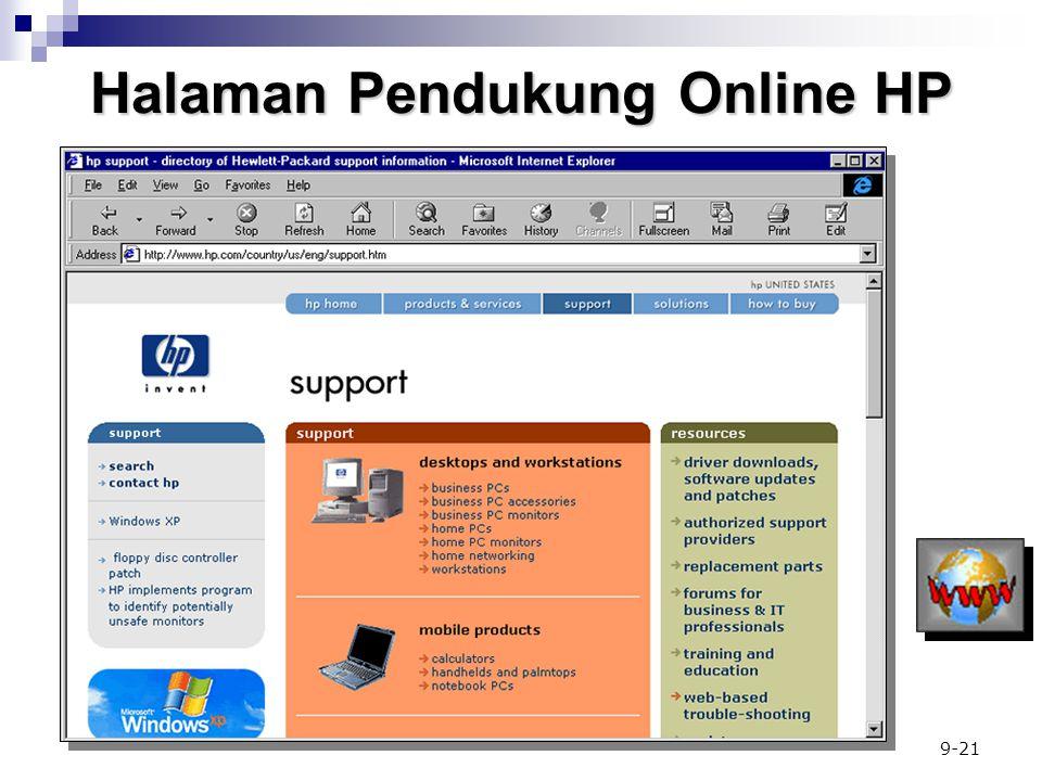 9-21 Halaman Pendukung Online HP