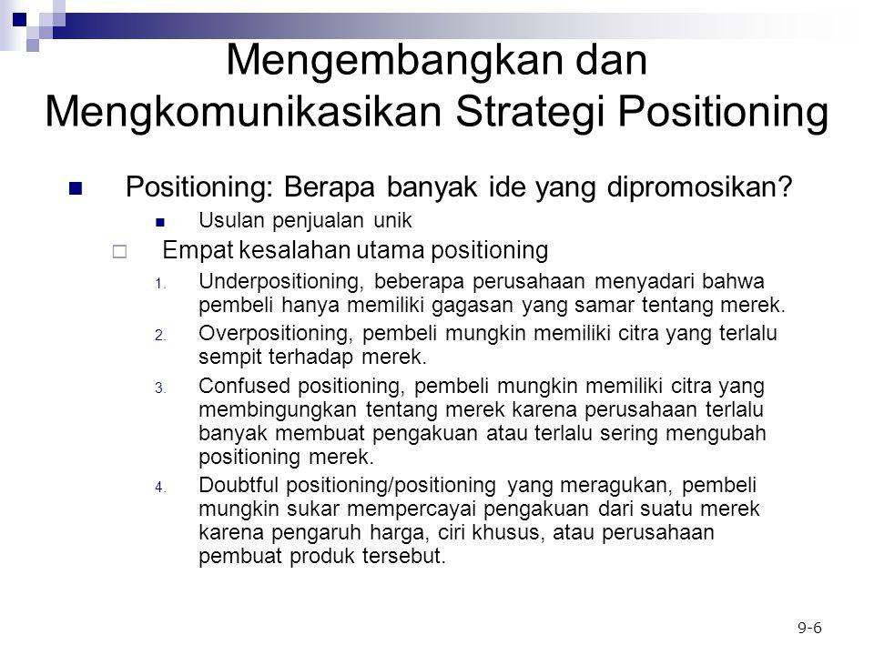 9-6 Positioning: Berapa banyak ide yang dipromosikan.