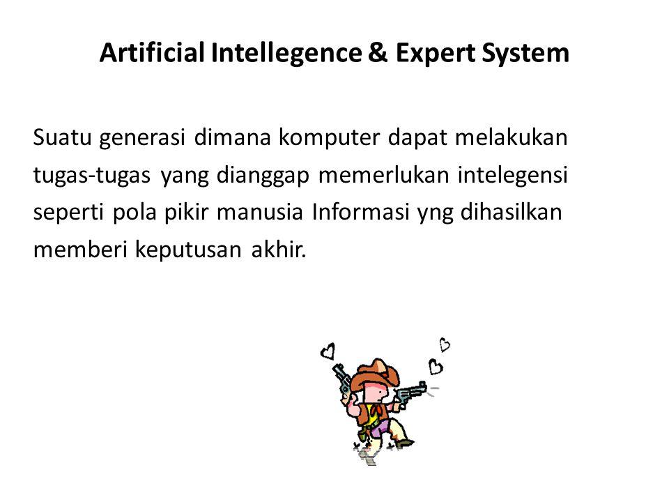Artificial Intellegence & Expert System Suatu generasi dimana komputer dapat melakukan tugas-tugas yang dianggap memerlukan intelegensi seperti pola p