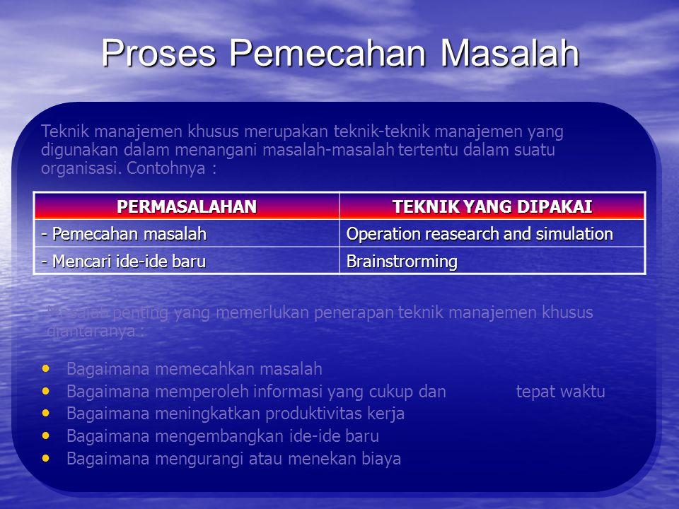 Teknik Manajemen Umum :
