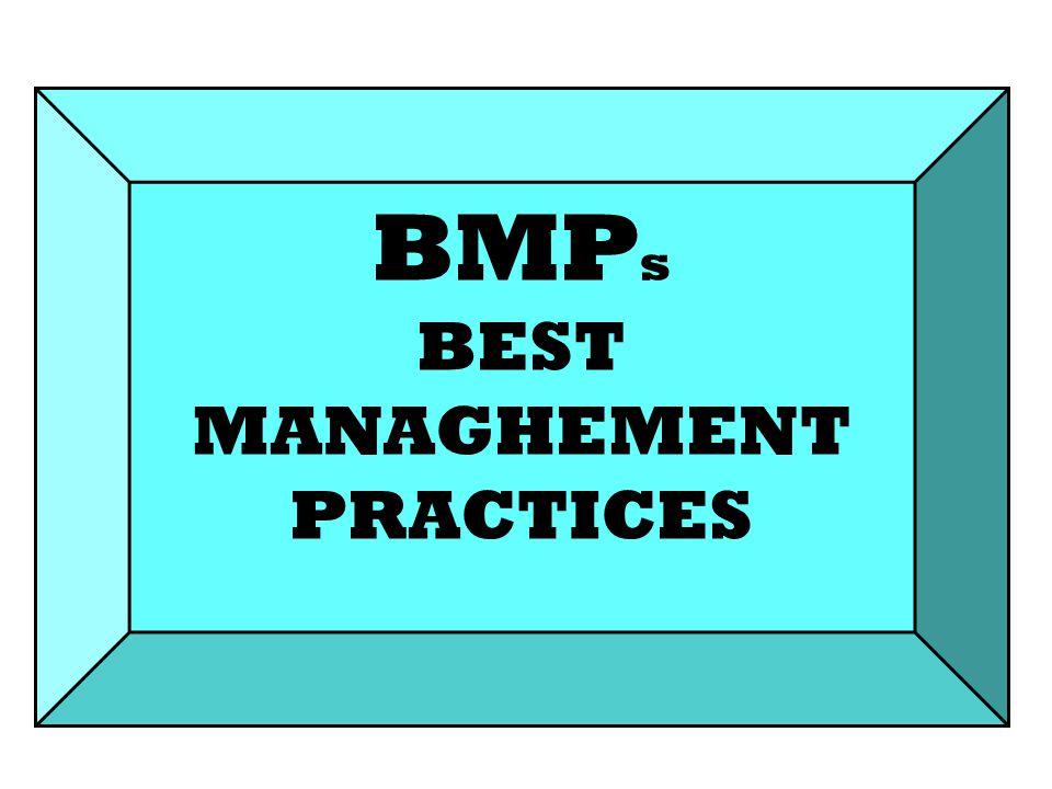 BMP s BEST MANAGHEMENT PRACTICES