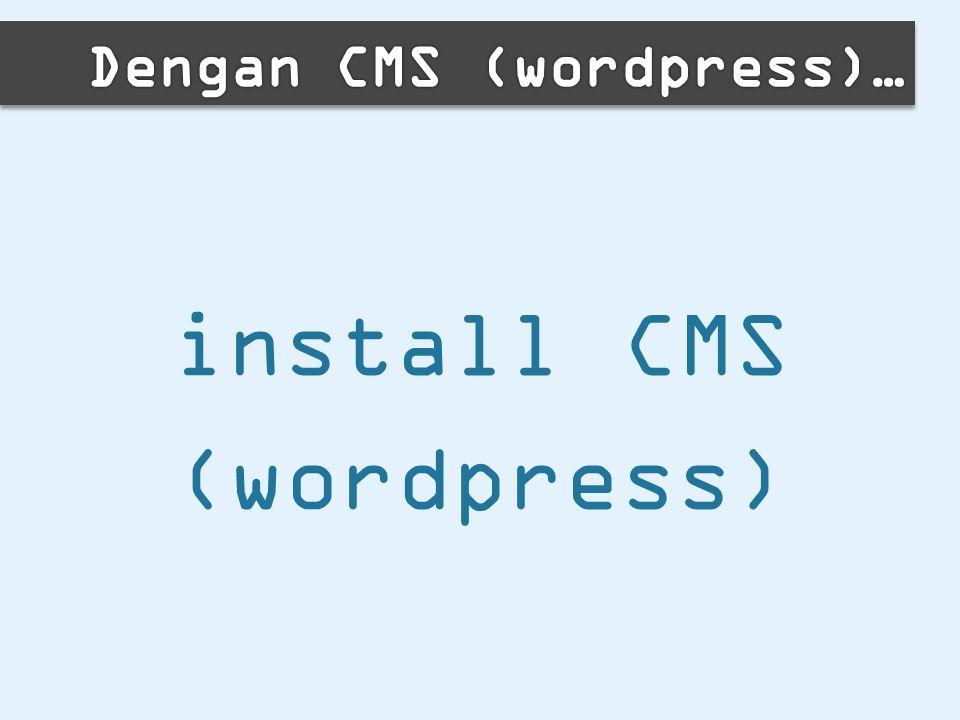 install CMS (wordpress)