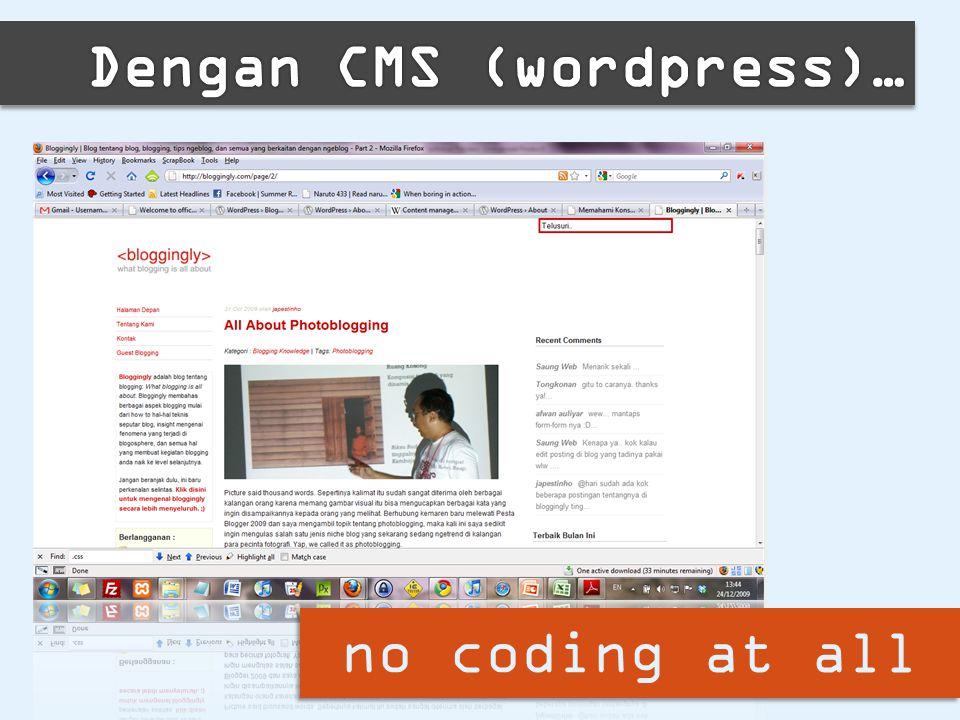 no coding at all
