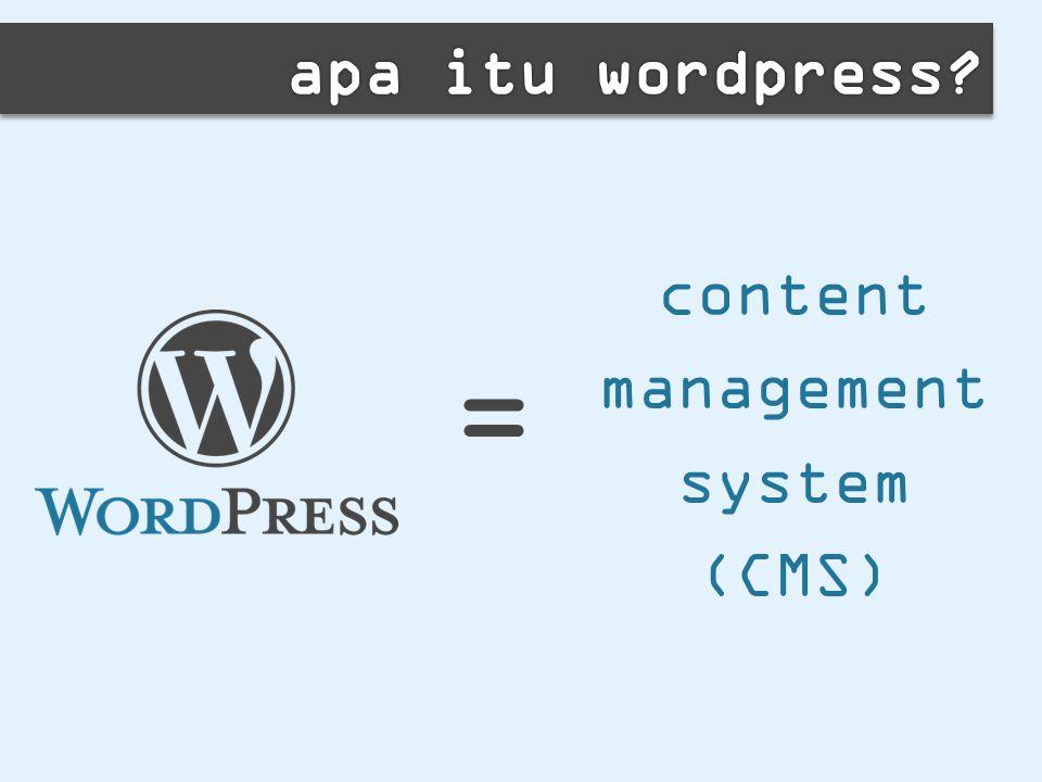 content management system (CMS) =