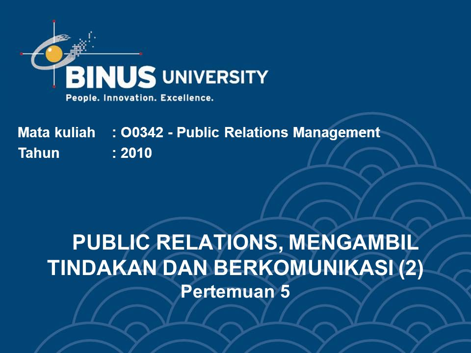 Bina Nusantara University 3 Learning Objectives Pada akhir pertemuan 5 ini, diharapkan mahasiswa dapat menyimpulkan pengertian: Komponen komunikasi strategis, dilakukan dengan: ~ Membingkai pesan ~ Semantik ~ Lambang-lambang ~ Mendistribusikan Pesan Mengambil Tindakan dan Berkomunikasi dengan Pola 7-C