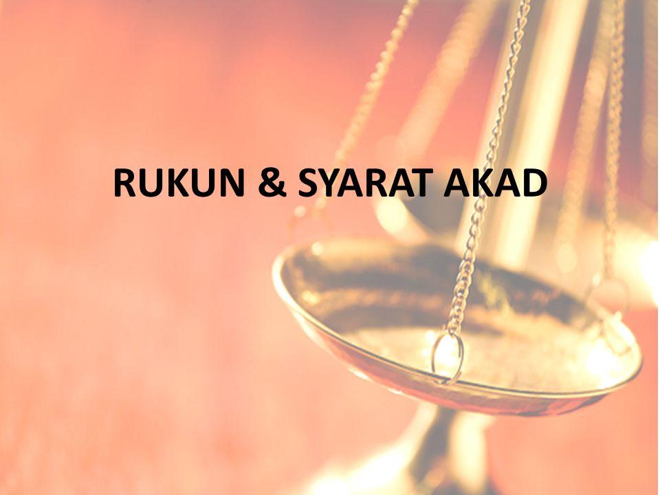 RUKUN & SYARAT AKAD
