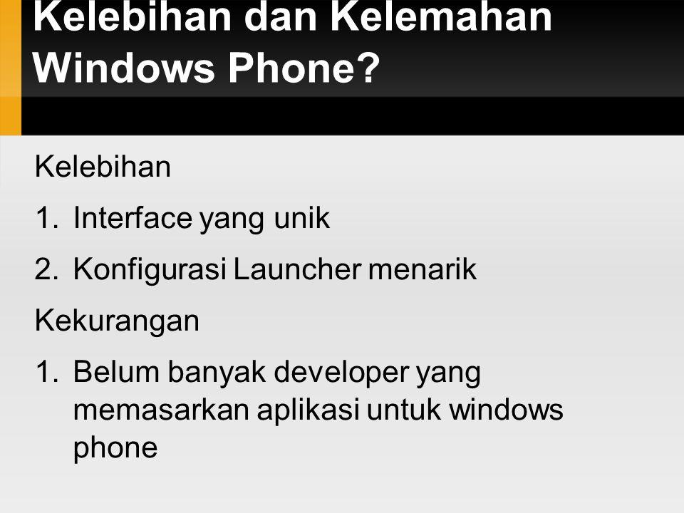 Penggunaan sistem operasi mobile