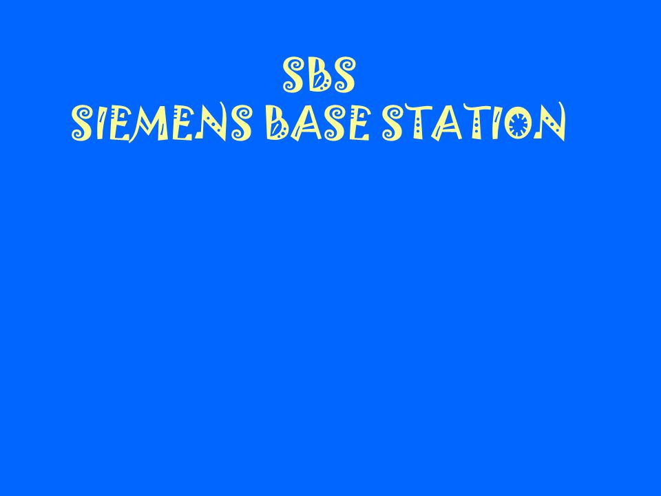 1.4 KESIMPULAN 1. Elemen jaringan Siemens Base Station (SBS) adalah : - BSC : Base Station Controller - BTSE : Base Transceiver Station Equipment - TR