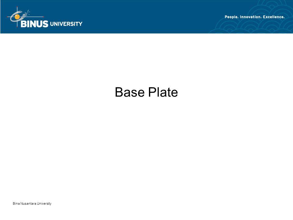 Bina Nusantara University Base Plate