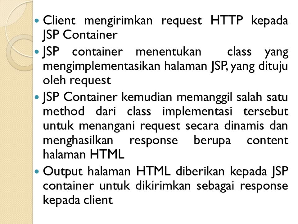 Komponen Utama Halaman JSP 1.