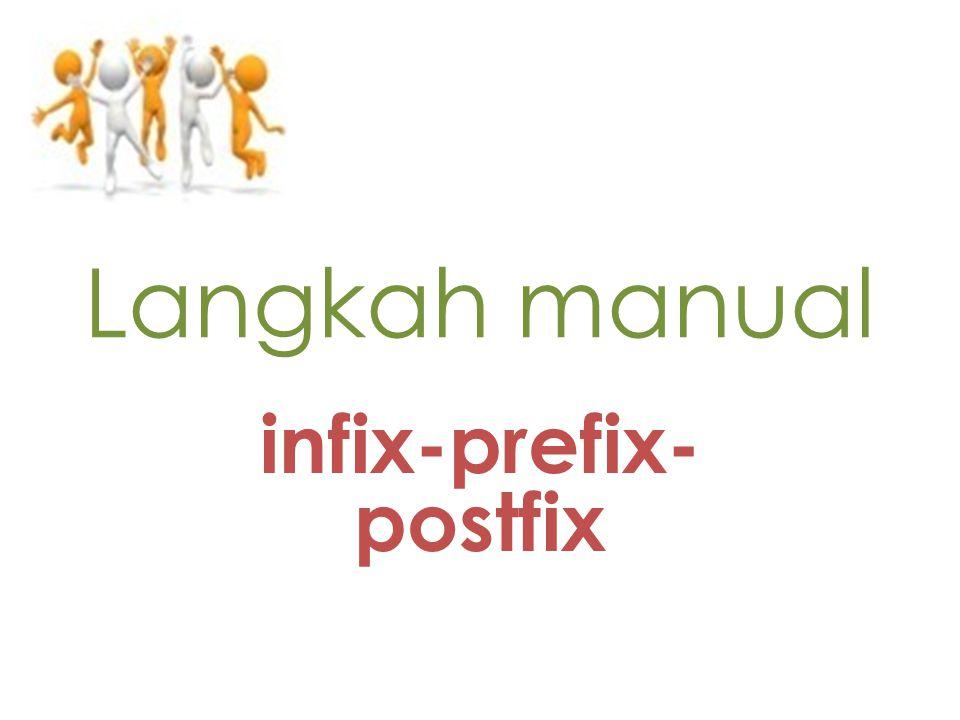 Langkah manual infix-prefix- postfix